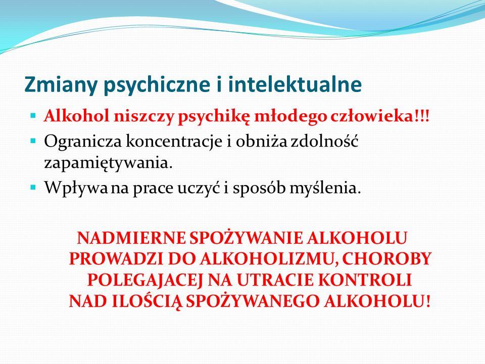 Zmiany psychiczne i intelektualne