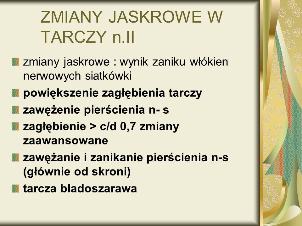 ZMIANY JASKROWE W TARCZY n.II