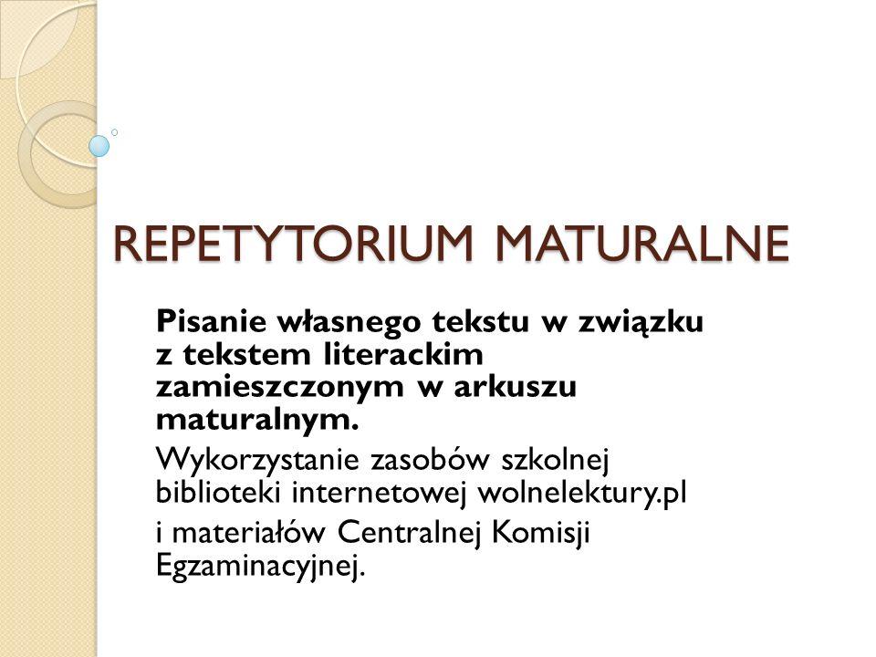 REPETYTORIUM MATURALNE