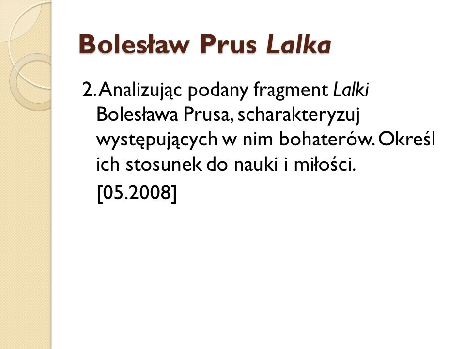 Bolesław Prus Lalka