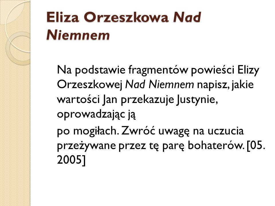 Eliza Orzeszkowa Nad Niemnem