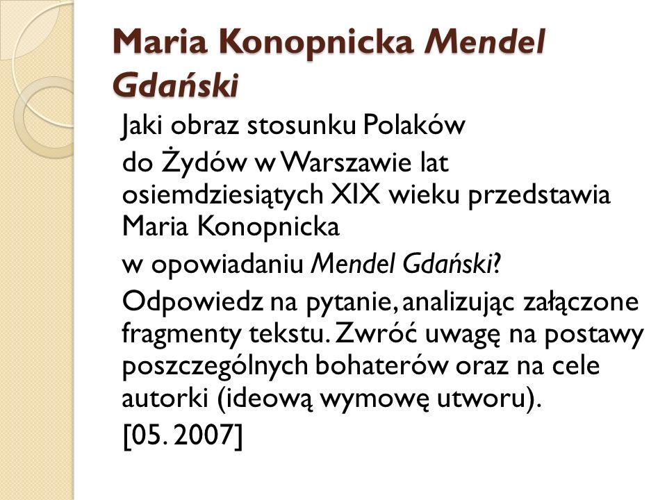 Maria Konopnicka Mendel Gdański