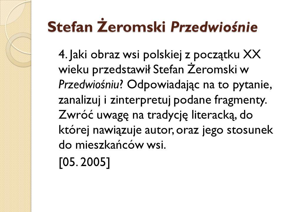 Stefan Żeromski Przedwiośnie