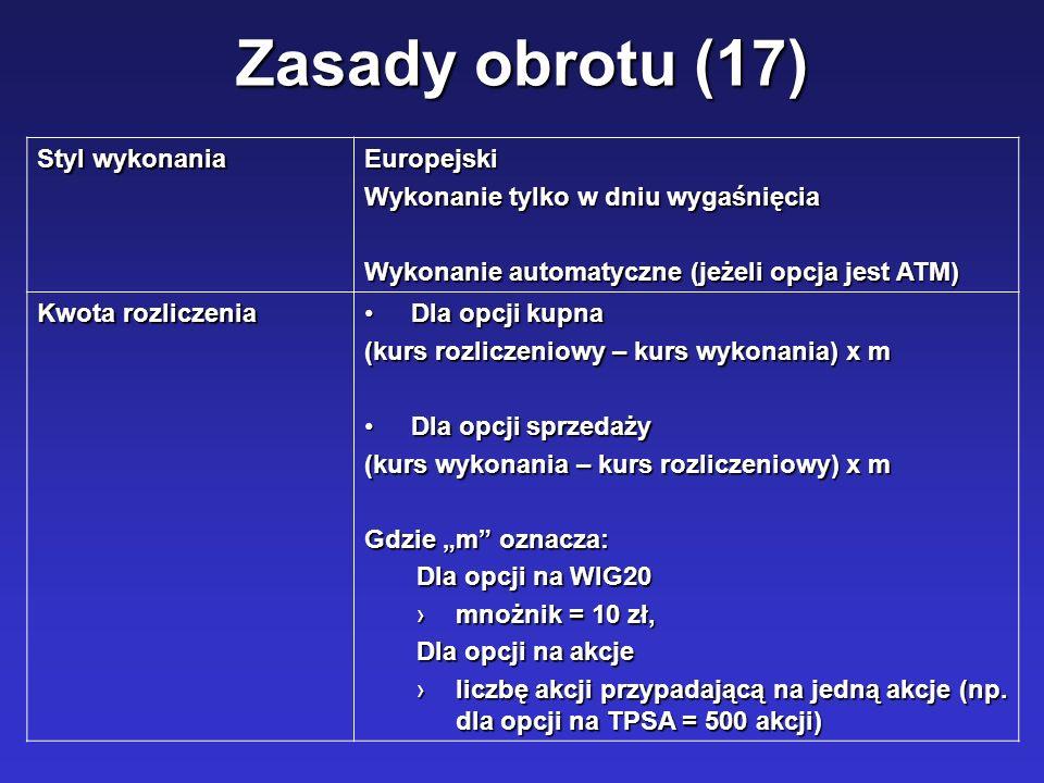 Zasady obrotu (17) Styl wykonania Europejski