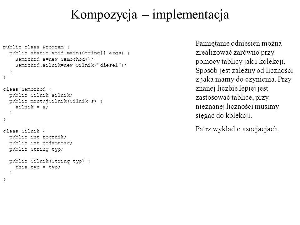 Kompozycja – implementacja