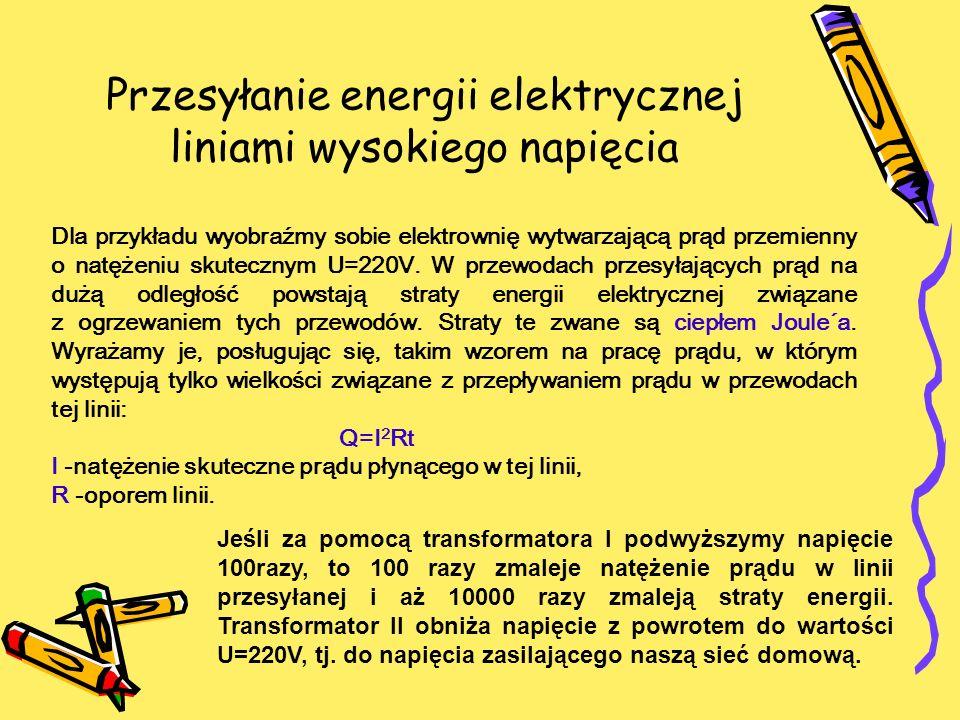 Przesyłanie energii elektrycznej liniami wysokiego napięcia