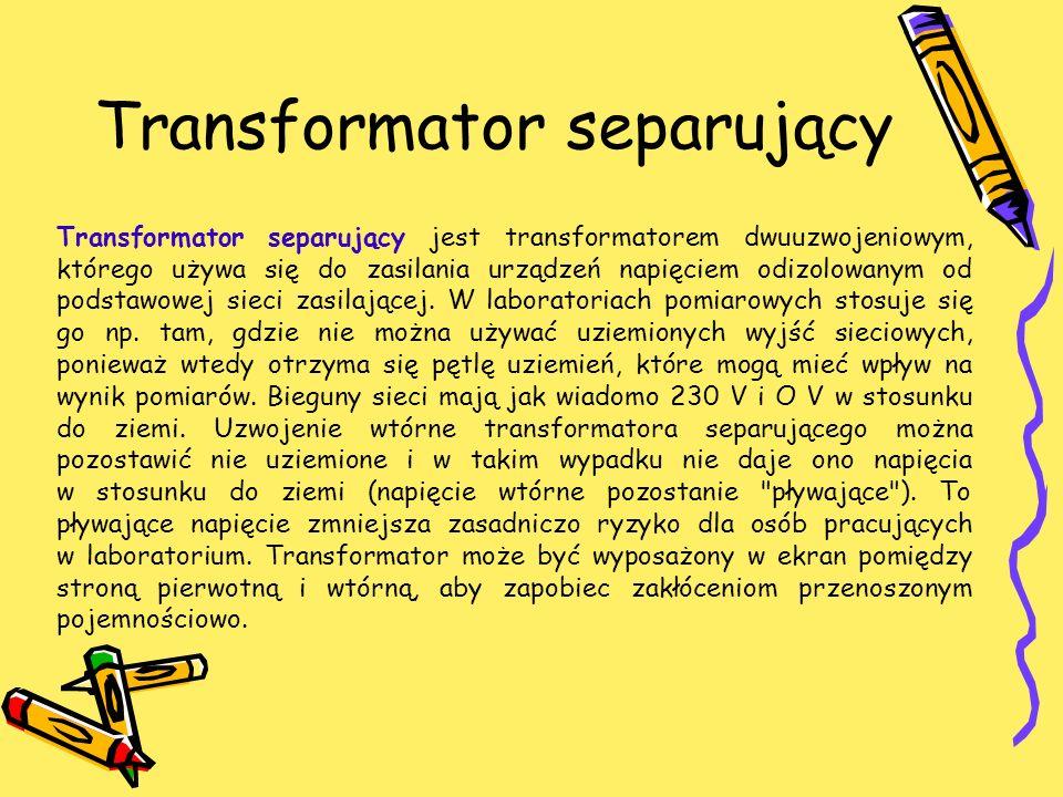Transformator separujący