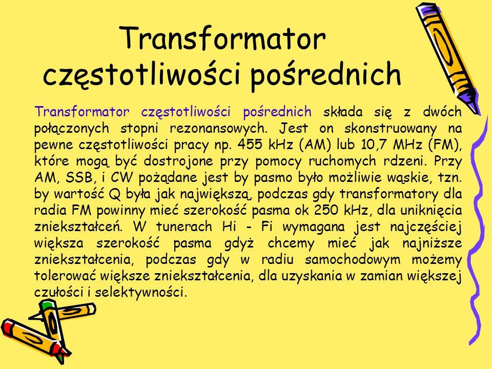 Transformator częstotliwości pośrednich