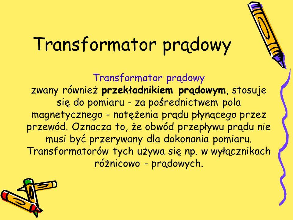 Transformator prądowy