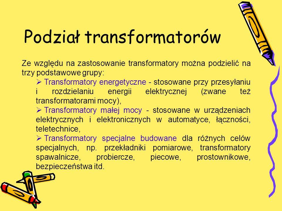 Podział transformatorów
