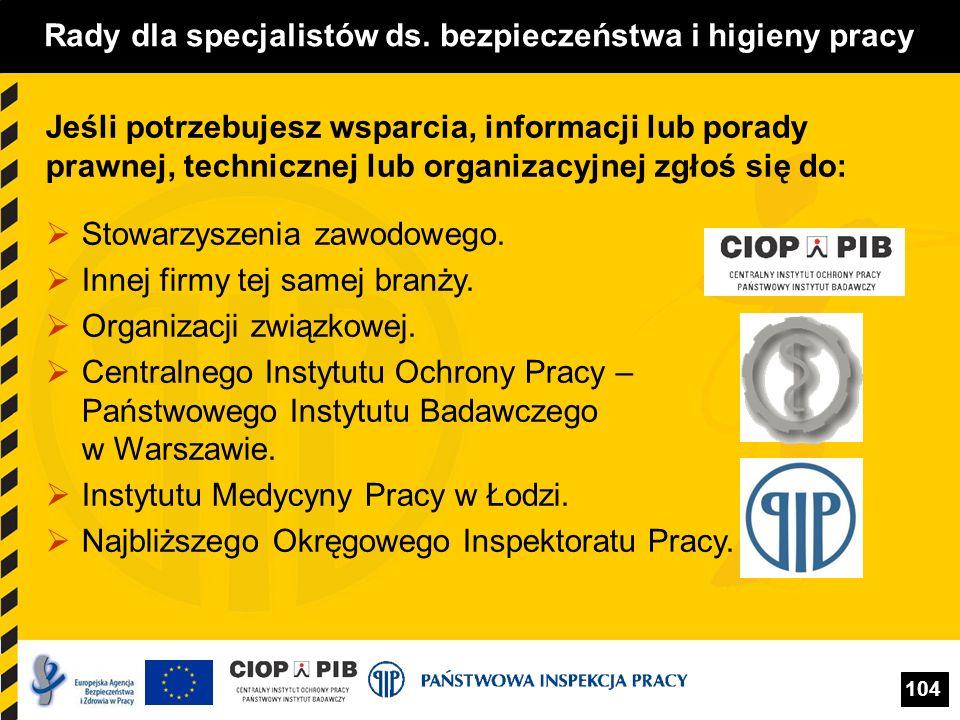 Rady dla specjalistów ds. bezpieczeństwa i higieny pracy