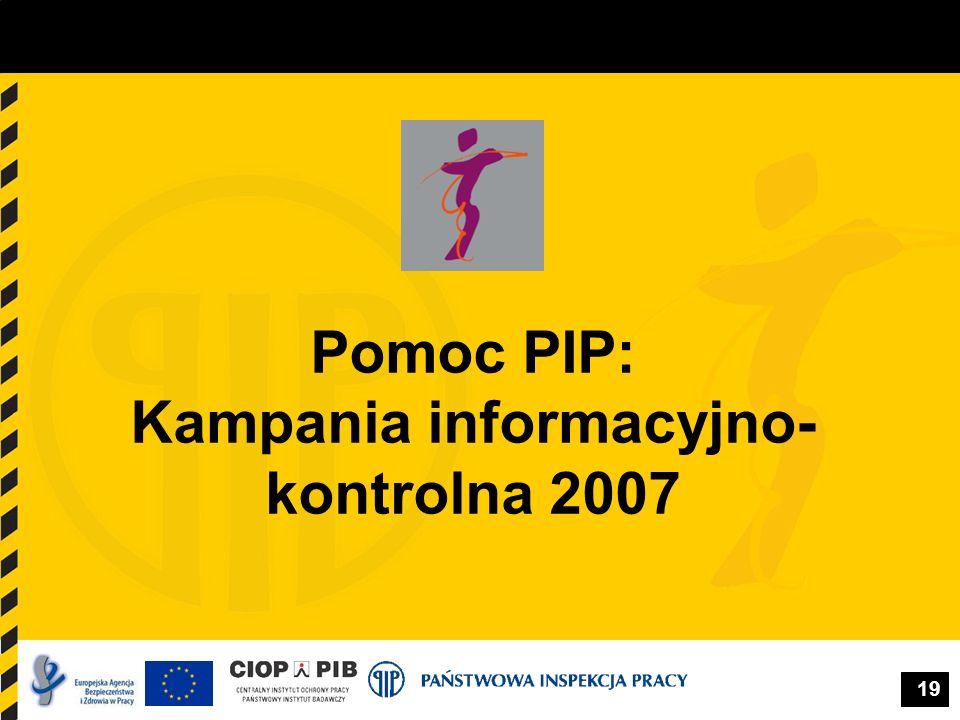 Pomoc PIP: Kampania informacyjno-kontrolna 2007