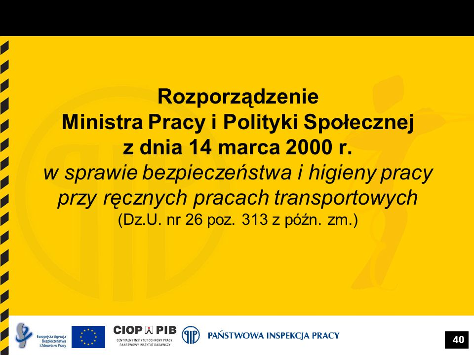 Rozporządzenie Ministra Pracy i Polityki Społecznej z dnia 14 marca 2000 r.