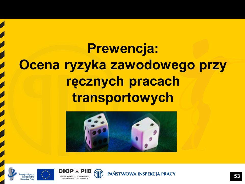 Prewencja: Ocena ryzyka zawodowego przy ręcznych pracach transportowych