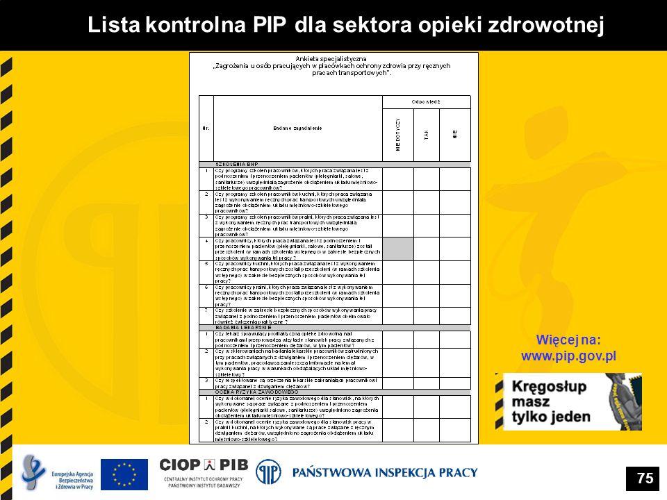 Lista kontrolna PIP dla sektora opieki zdrowotnej