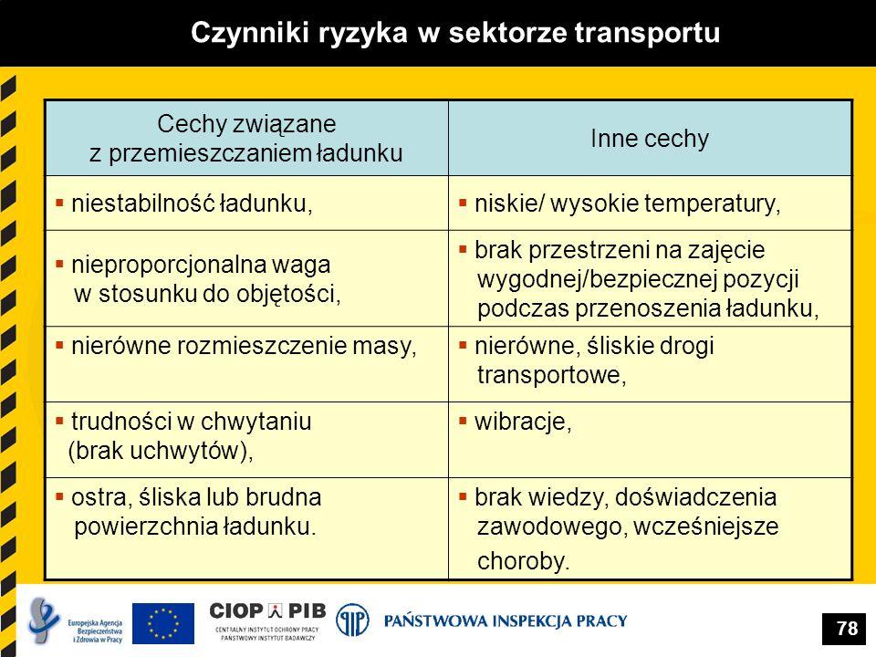 Czynniki ryzyka w sektorze transportu