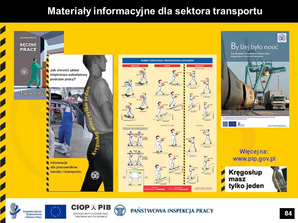 Materiały informacyjne dla sektora transportu