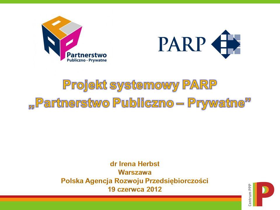 """Projekt systemowy PARP """"Partnerstwo Publiczno – Prywatne"""