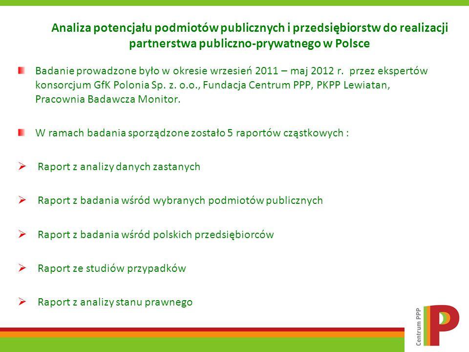 Analiza potencjału podmiotów publicznych i przedsiębiorstw do realizacji partnerstwa publiczno-prywatnego w Polsce