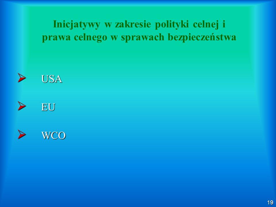 Inicjatywy w zakresie polityki celnej i prawa celnego w sprawach bezpieczeństwa