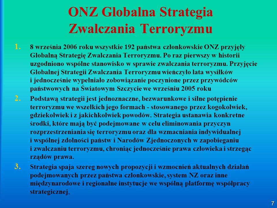 ONZ Globalna Strategia Zwalczania Terroryzmu