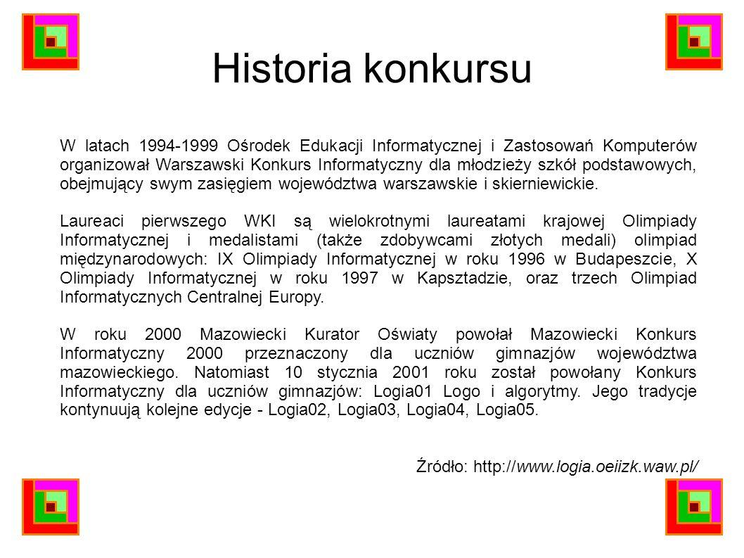 Historia konkursu