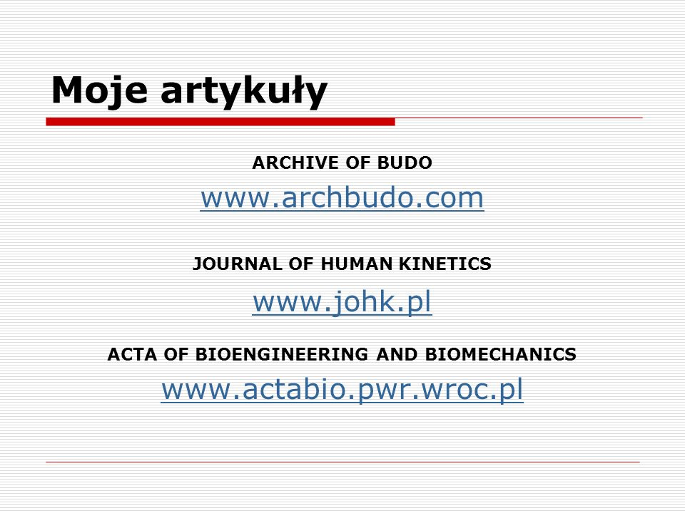 ACTA OF BIOENGINEERING AND BIOMECHANICS