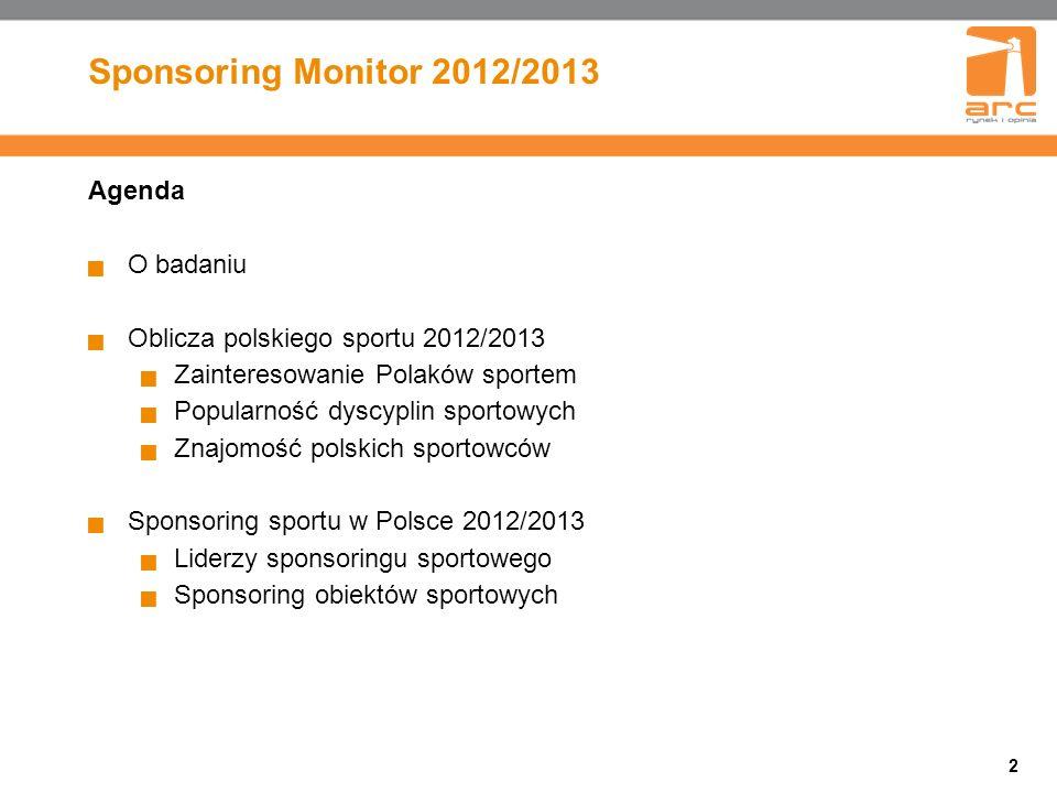 Sponsoring Monitor 2012/2013 Agenda O badaniu