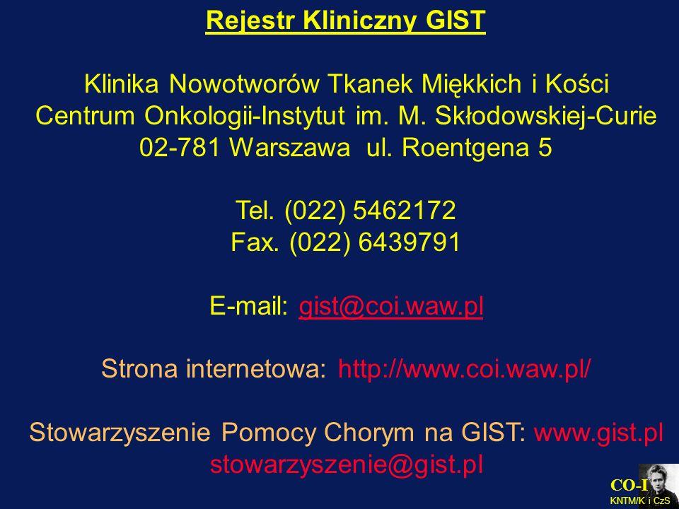 Rejestr Kliniczny GIST