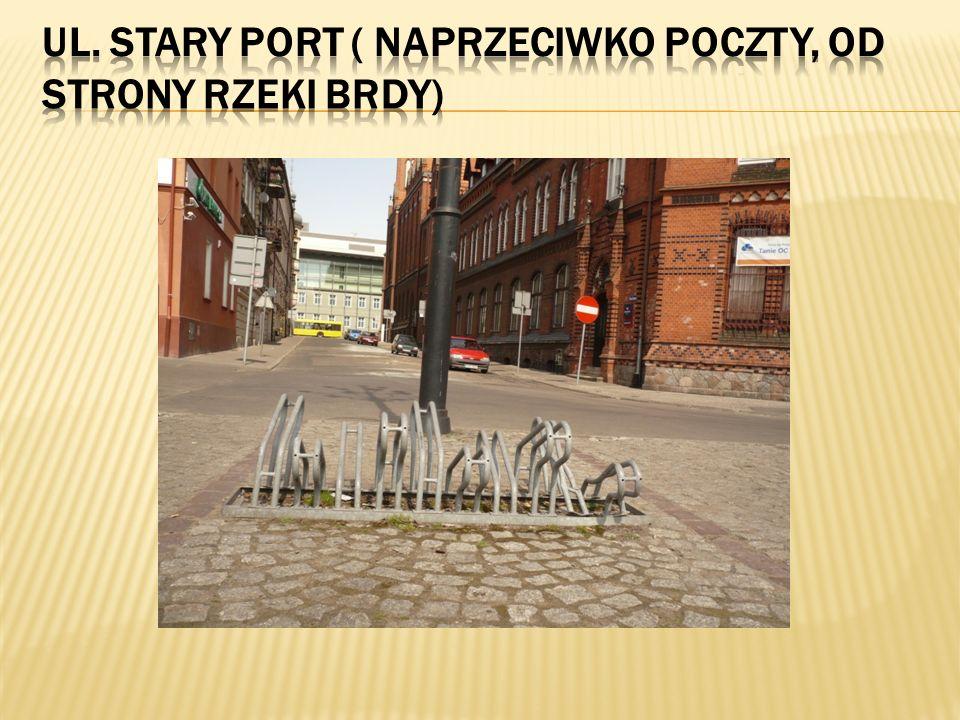 Ul. Stary Port ( naprzeciwko poczty, od strony rzeki Brdy)