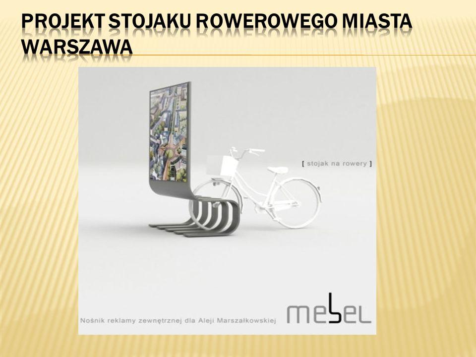 Projekt stojaku rowerowego miasta Warszawa