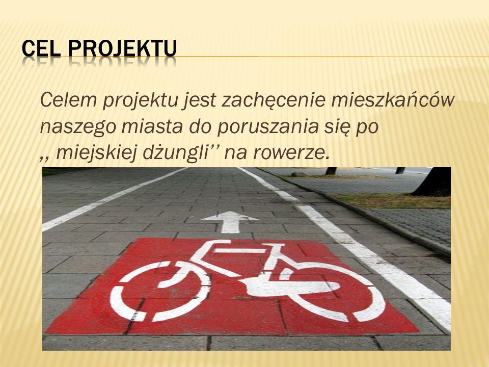 Cel projektu Celem projektu jest zachęcenie mieszkańców naszego miasta do poruszania się po.