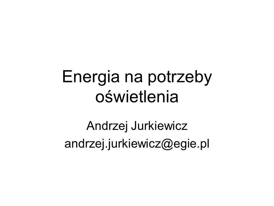 Energia na potrzeby oświetlenia