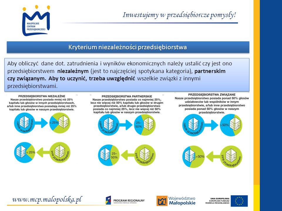 Kryterium niezależności przedsiębiorstwa