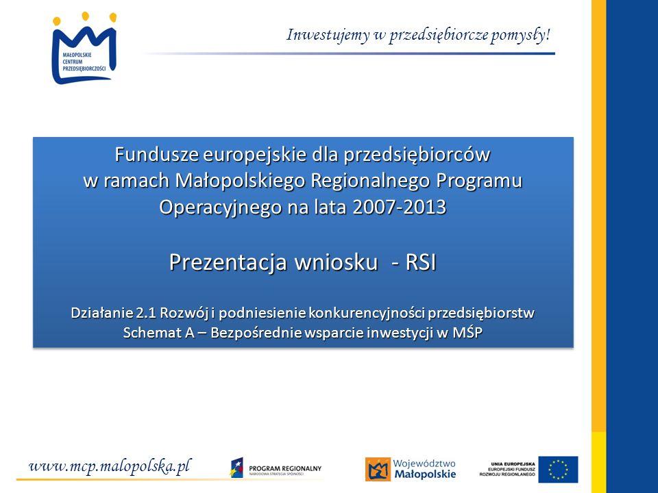 Prezentacja wniosku - RSI