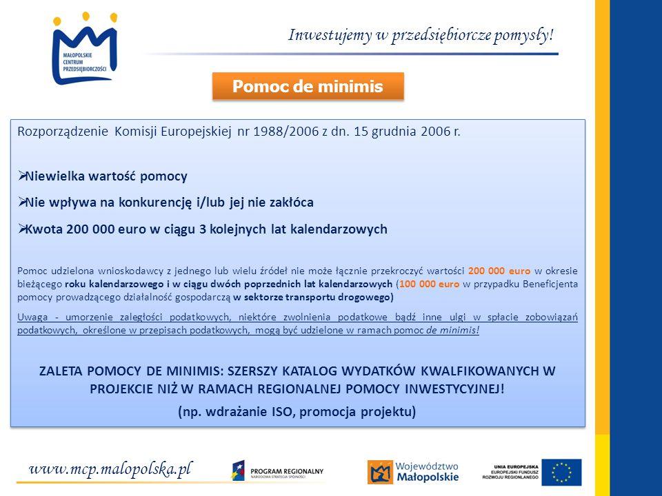 (np. wdrażanie ISO, promocja projektu)