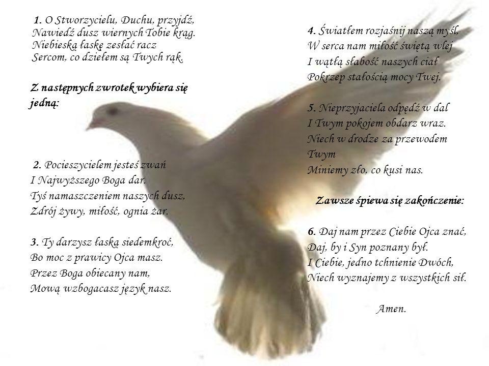 1. O Stworzycielu, Duchu, przyjdź, Nawiedź dusz wiernych Tobie krąg