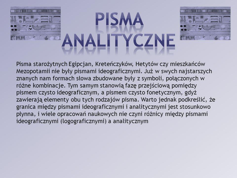 PISMA analityczne.