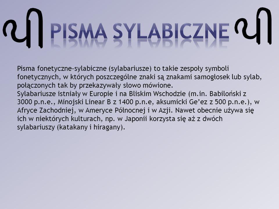 Pisma sylabiczne