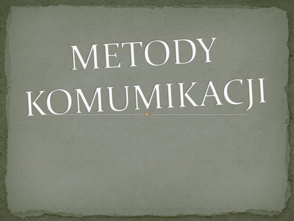 METODY KOMUMIKACJI