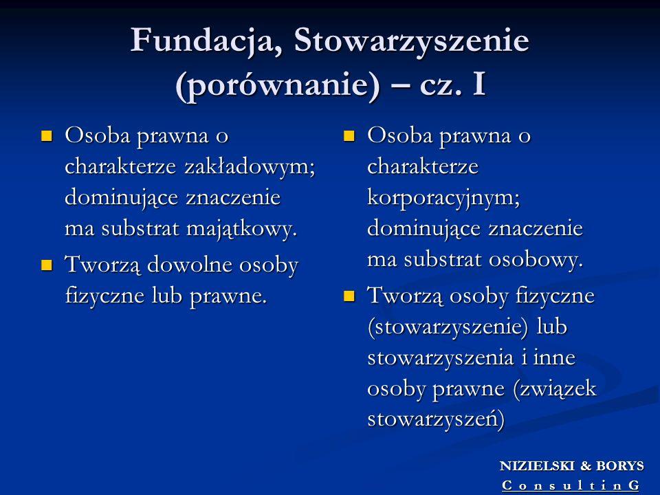 Fundacja, Stowarzyszenie (porównanie) – cz. I
