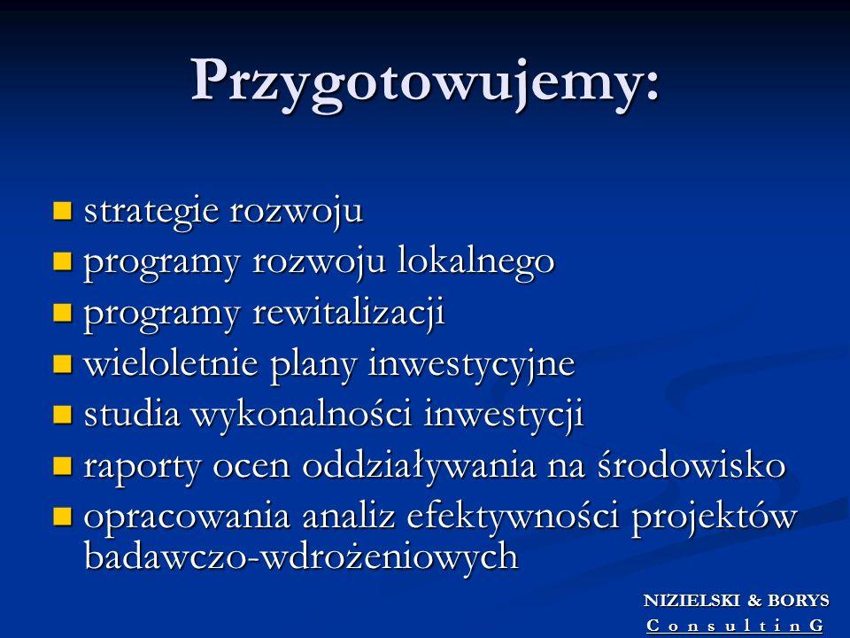 Przygotowujemy: strategie rozwoju programy rozwoju lokalnego