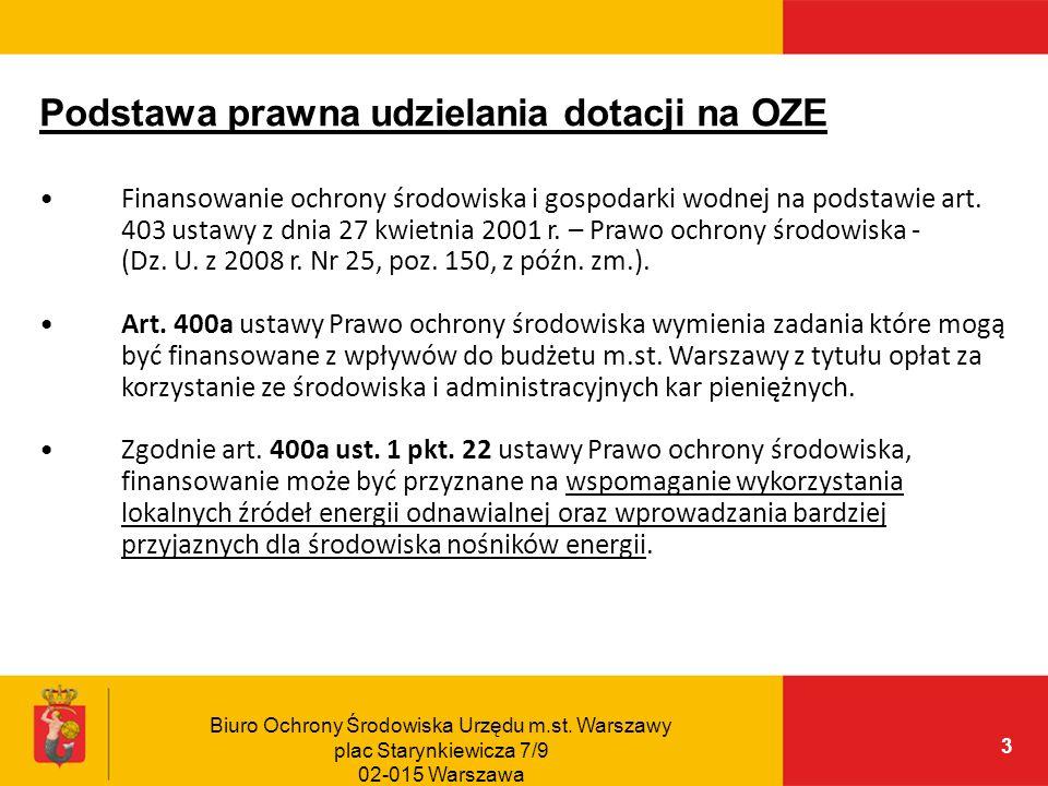 Podstawa prawna udzielania dotacji na OZE