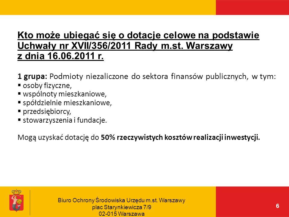 Kto może ubiegać się o dotacje celowe na podstawie Uchwały nr XVII/356/2011 Rady m.st. Warszawy z dnia 16.06.2011 r.
