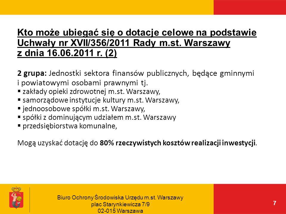 Kto może ubiegać się o dotacje celowe na podstawie Uchwały nr XVII/356/2011 Rady m.st. Warszawy z dnia 16.06.2011 r. (2)