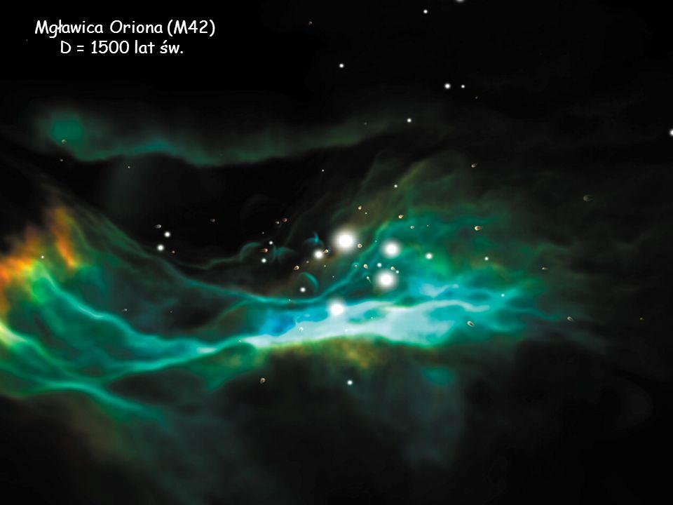 Mgławica Oriona (M42) D = 1500 lat św.