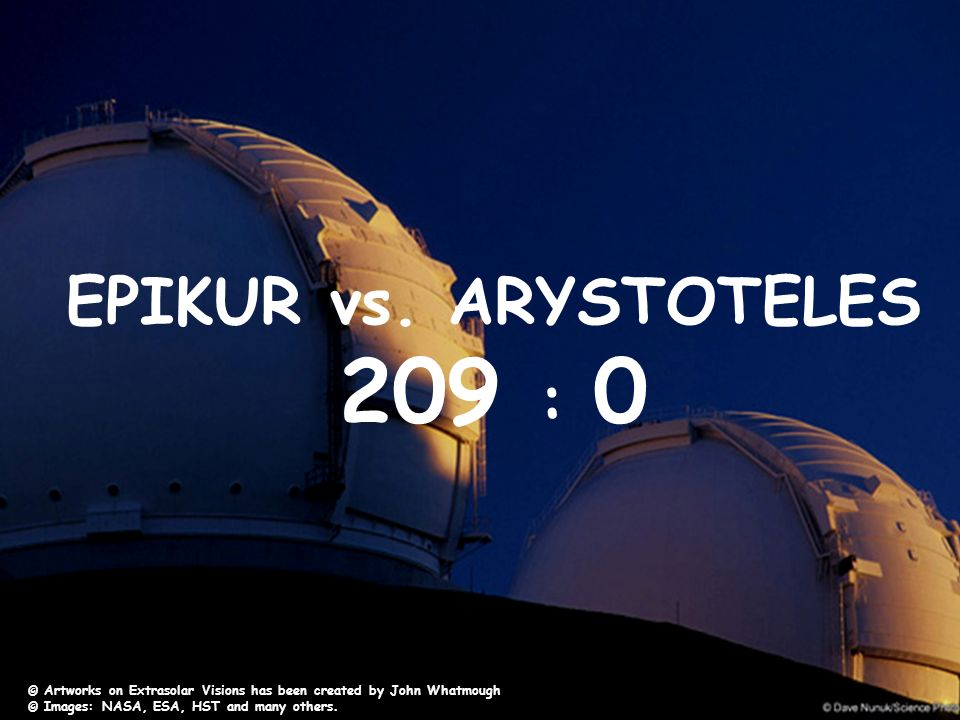 209 : 0 EPIKUR vs. ARYSTOTELES