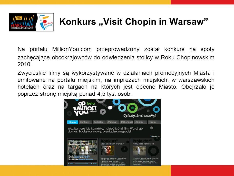 """Konkurs """"Visit Chopin in Warsaw"""
