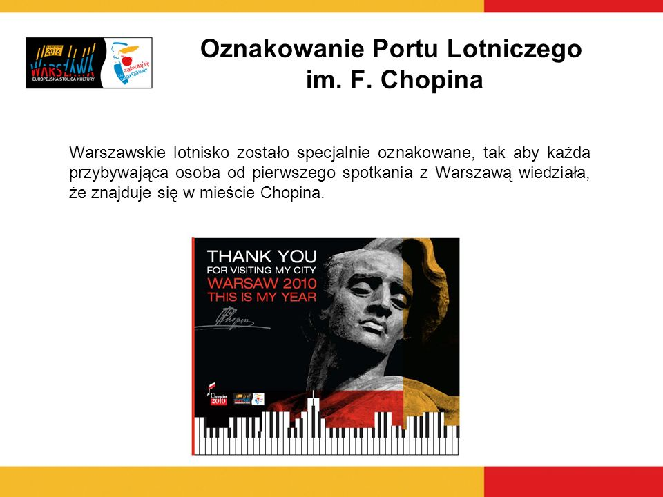 Oznakowanie Portu Lotniczego im. F. Chopina