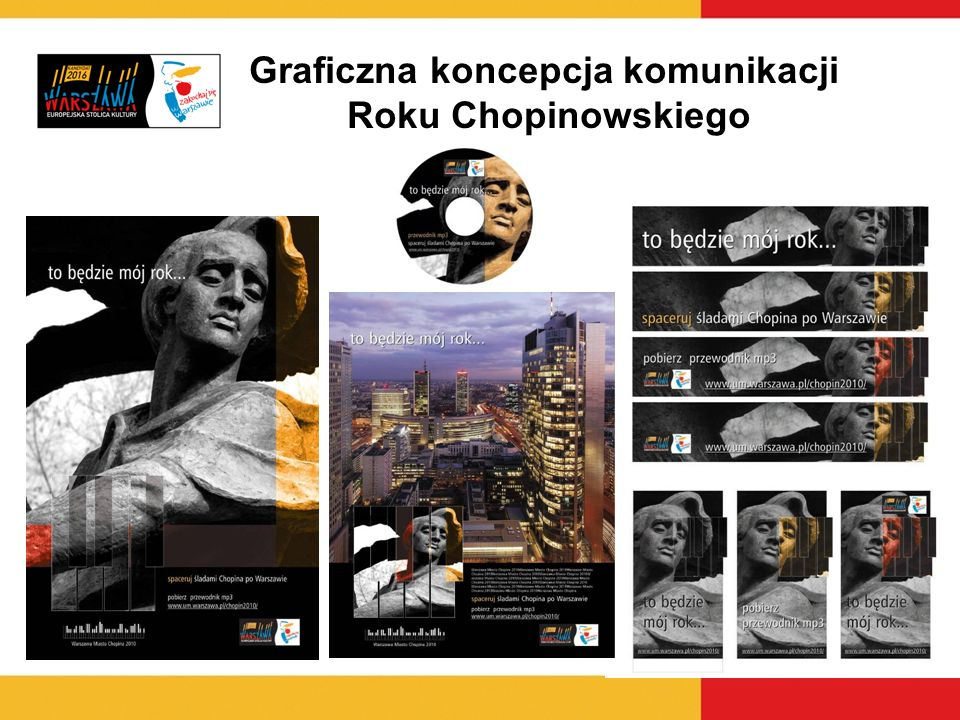 Graficzna koncepcja komunikacji Roku Chopinowskiego